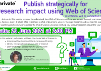 Publish strategically for research impact using Web of Science