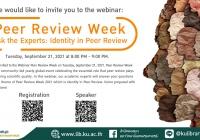 Webinar: Peer Review Week: Ask the Experts: Identity in Peer Review