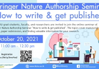 """Springer Nature Authorship Seminar """"How to write & get published"""" (2)"""
